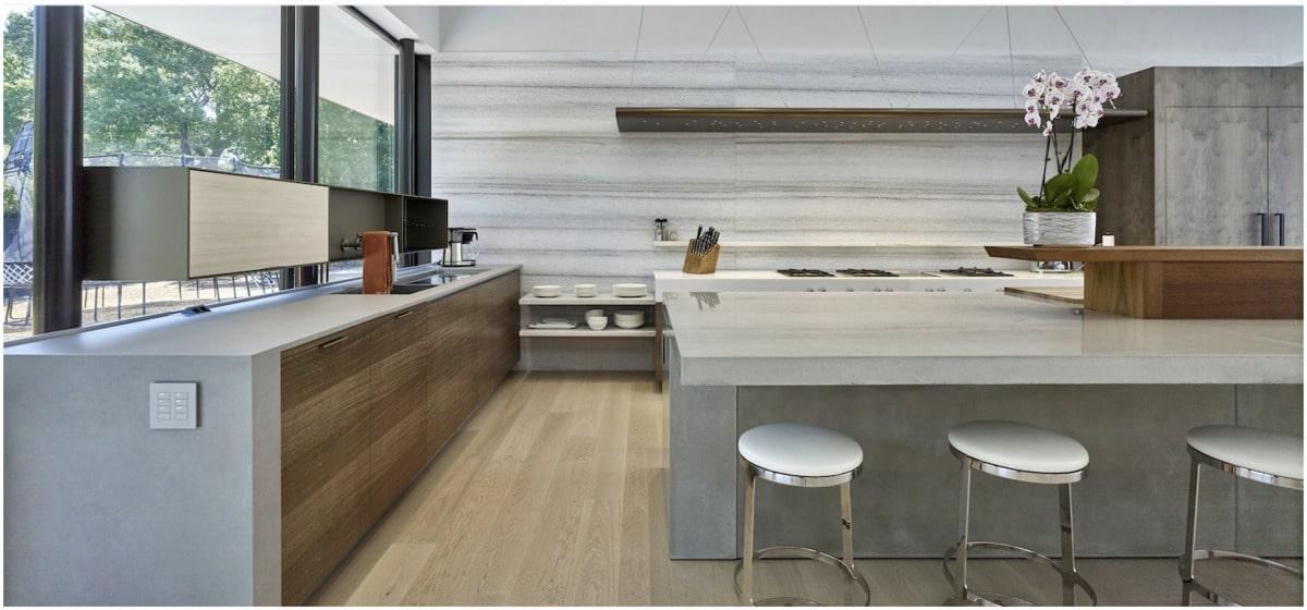 le béton en comptoir de cuisine