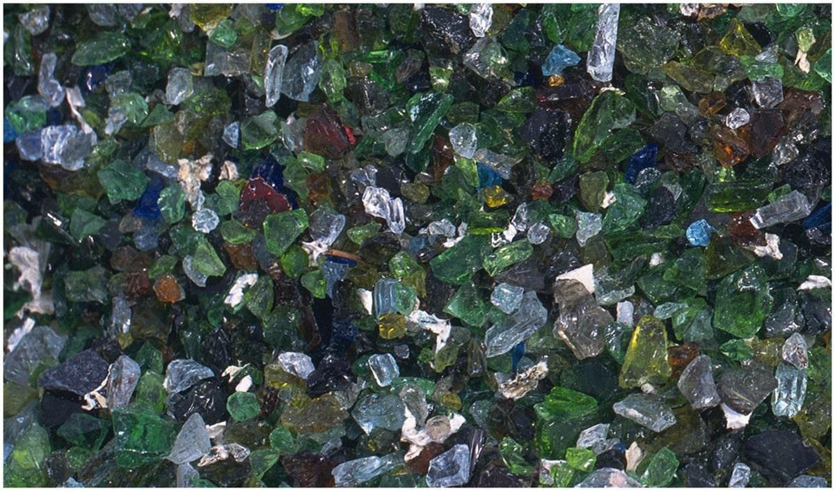 dalle de verre recyclé